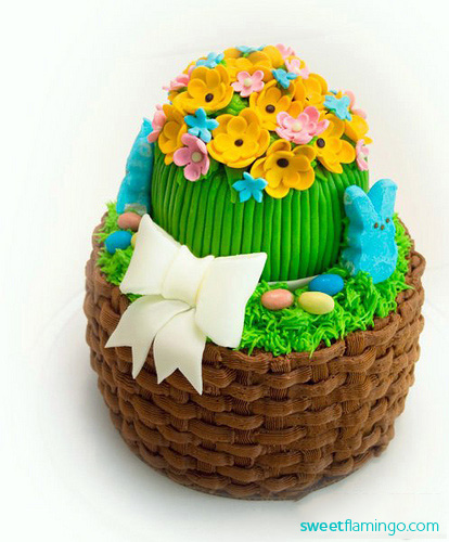Happy easter basket cake sweet flamingo cake co cake negle Gallery