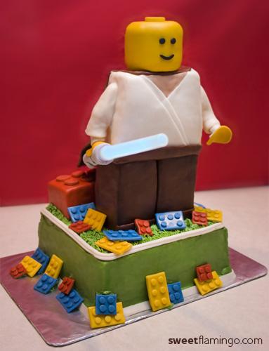 Amazing Lego Star Wars Birthday Sweet Flamingo Cake Co Funny Birthday Cards Online Overcheapnameinfo