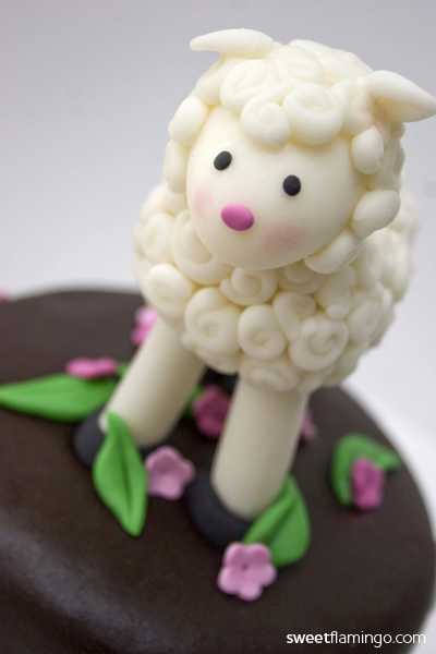 Lamb Baby Shower Cake Topper