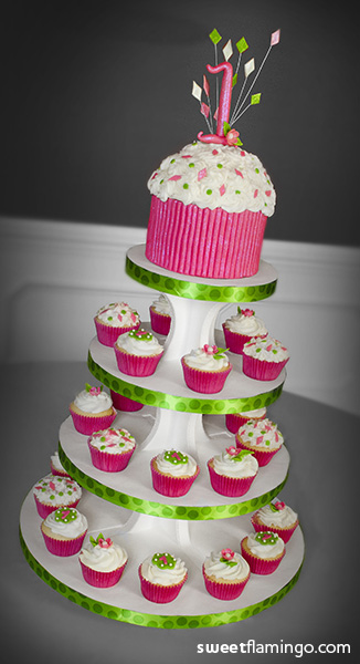 1st Cupcake Birthday! | Sweet Flamingo Cake Co