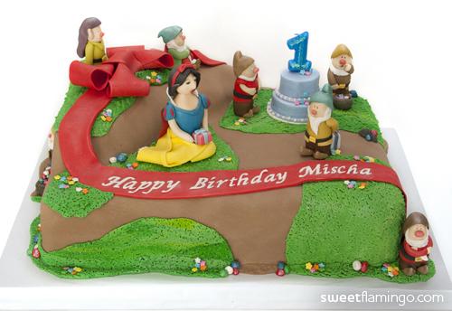 Astonishing Snow White The 7 Dwarfs Throw A Birthday Party Sweet Flamingo Funny Birthday Cards Online Alyptdamsfinfo