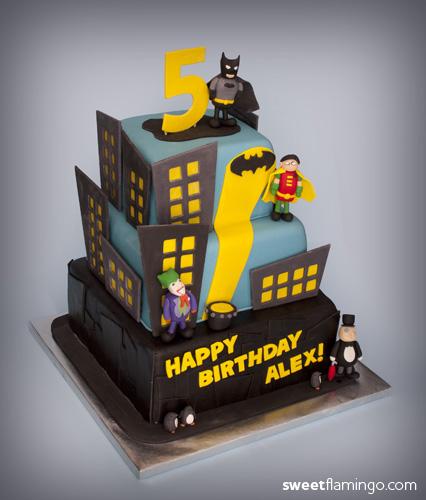 Admirable Holy Birthday Cake Batman Sweet Flamingo Cake Co Personalised Birthday Cards Vishlily Jamesorg