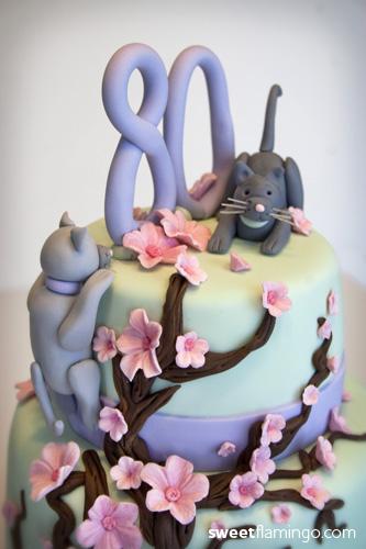 A Sweet Birthday Amp Cute Kittens Sweet Flamingo Cake Co