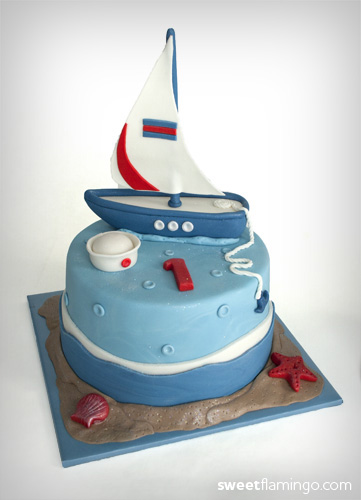 Captain Cade Amp His 1st Sailboat Birthday Sweet Flamingo