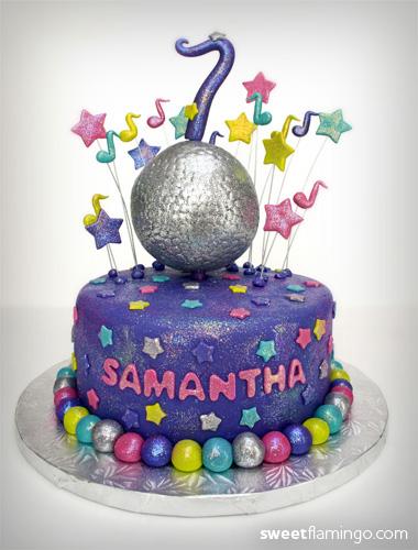 Peachy Disco Sweet Flamingo Cake Co Funny Birthday Cards Online Hendilapandamsfinfo