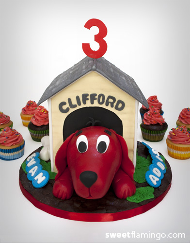 Outstanding Happy Birthday With Clifford Sweet Flamingo Cake Co Personalised Birthday Cards Petedlily Jamesorg