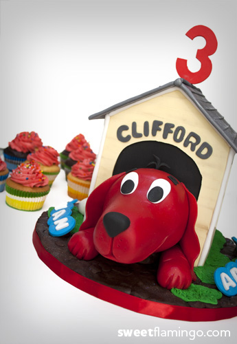 Amazing Happy Birthday With Clifford Sweet Flamingo Cake Co Personalised Birthday Cards Petedlily Jamesorg