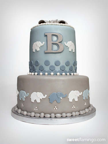 Baby Elephants For A New Mom Amp Dad Sweet Flamingo Cake Co